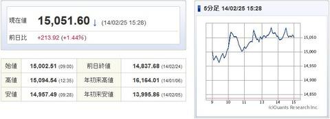 日経平均20140225-1