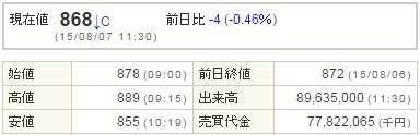 9501東京電力20150807-1前場