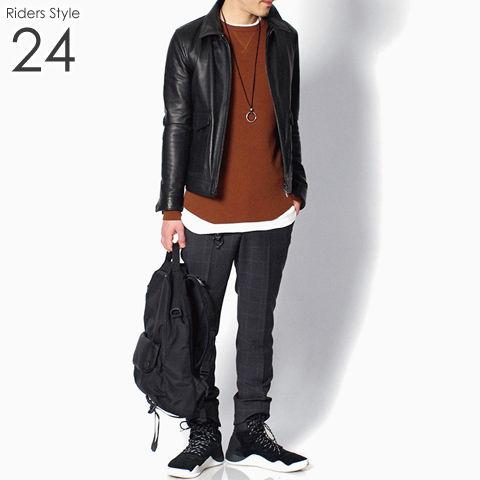 ライダース メンズ コーデ 24