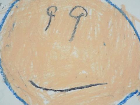 Yちゃんが描いたRくんの顔の絵