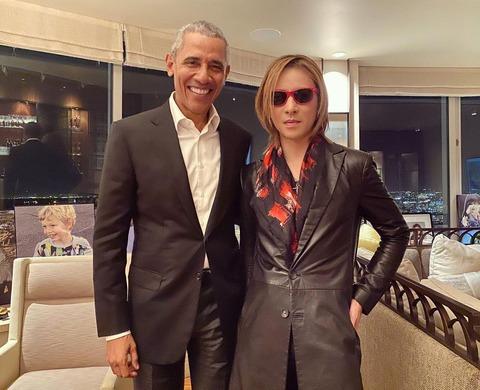 【X JAPAN】YOSHIKI、誕生日にオバマ前大統領との2ショット公開「さすが世界のYOSHIKIさん!」  [爆笑ゴリラ★]