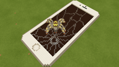 ヒビのクモの巣
