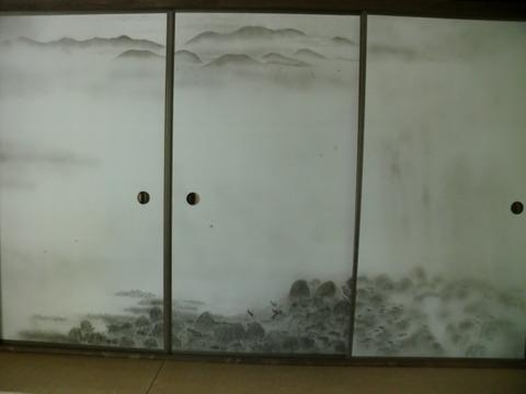 細川護熙元首相の描いたふすま絵