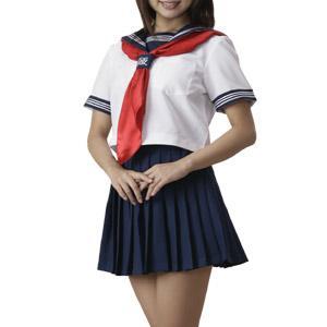 女子高生の制服のスカーフ
