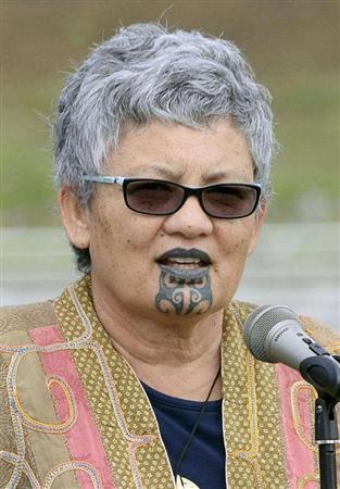 入浴拒否されたマオリ族の女性のタトゥー
