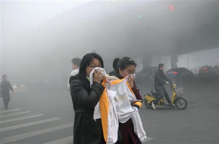 大気汚染が深刻な中国