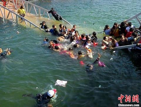 中国で橋が崩落