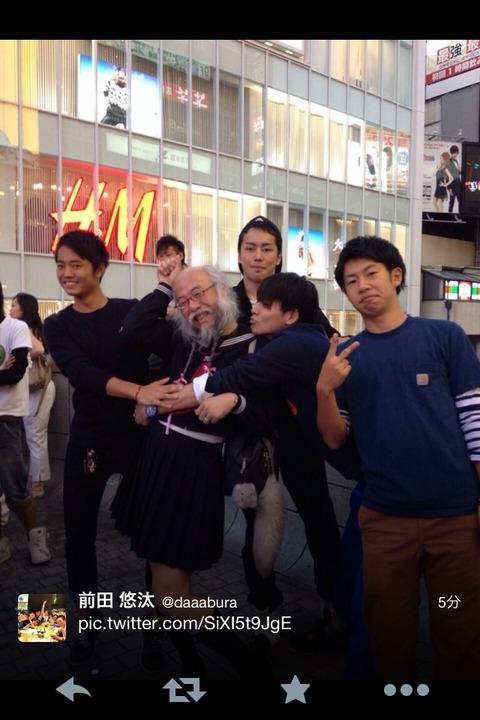 東京に出没する「セーラー服おじさん」