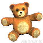 赤褐色の小さな抱っこ熊