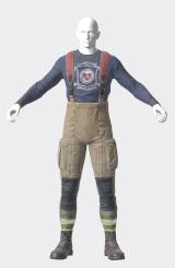 レスポンダーの消防隊長のアンダーアーマー