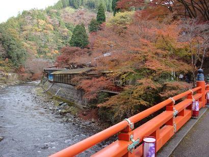 神護寺登り口の橋