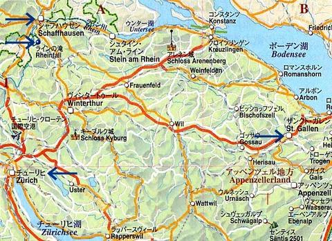 1シャフハウゼンの地図