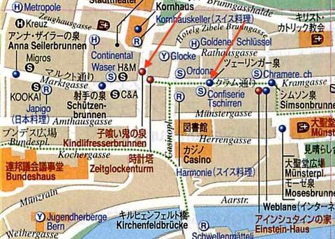 1ベルンの地図