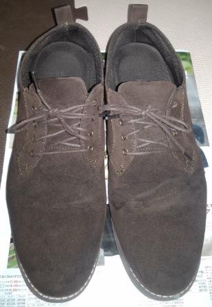 スエード靴補色乾燥後