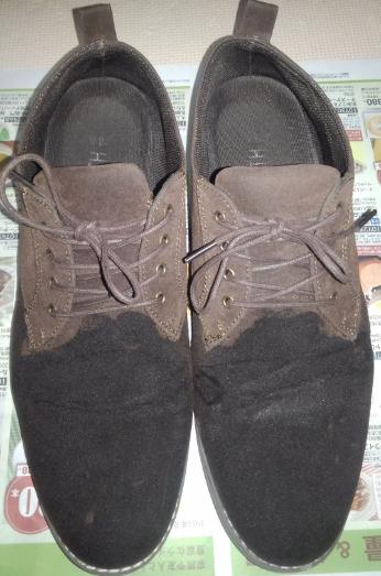 スエード靴補色中
