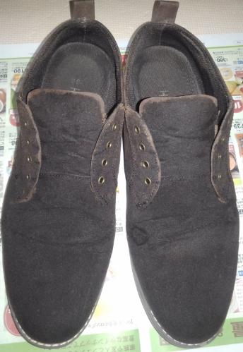 スエード靴補色後