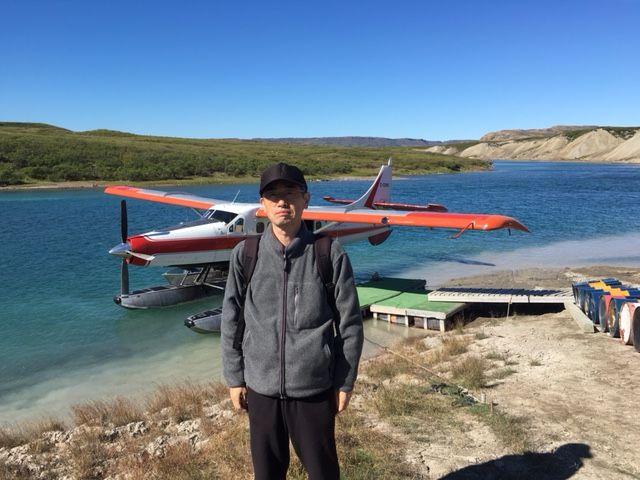 1_水上飛行機でツリー川に到着