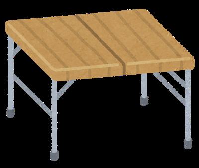 キャンプ用のキッチンテーブルでこんなのどうかな?