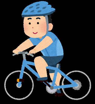 jitensya_cycling_man