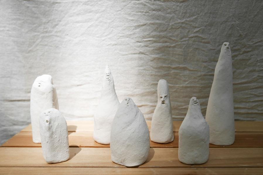 丸町年和_まるまちとしかず_marumachitoshikazu_石膏粘土_立体作品