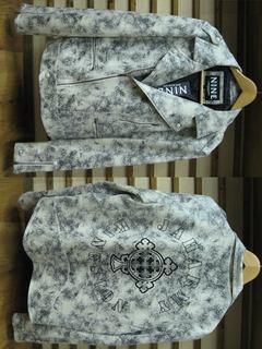 珍しいライダースジャケットです。【NINE RULAZ LINE ナインルーラーズライン】Jah Army Riders Jacket