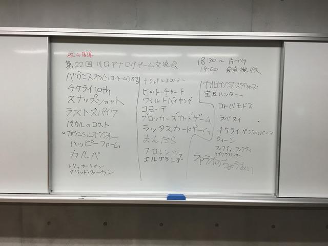 第22回 川口アナログゲーム交流会 開催レポート