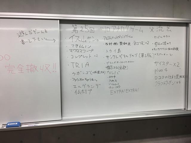 第25回 川口アナログゲーム交流会 開催レポート