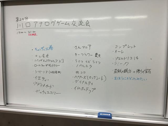 第24回 川口アナログゲーム交流会 開催レポート