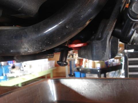 2007XL883R エンジンオイル交換2