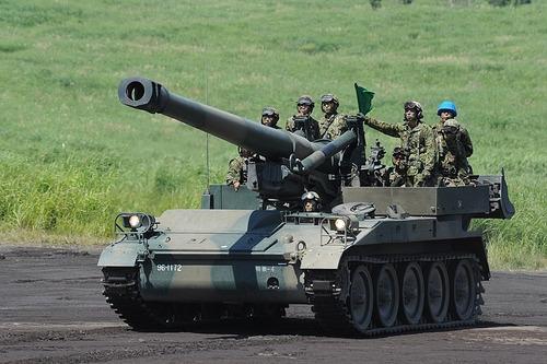 203mm自走榴弾砲_H22富士総合火力演習・前段_026_R_装備_162