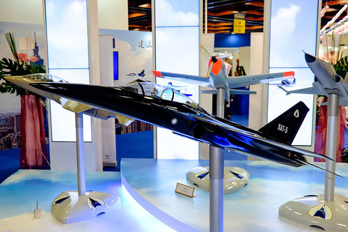 XAT-5_Advanced_Trainer_Model_Display_at_AIDC_Booth