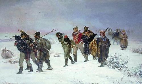 French_retreat_in_1812_by_Pryanishnikov