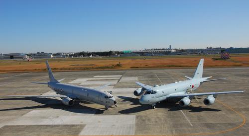 P-8A_of_VP-5_and_Japanese_Kawasaki_P-