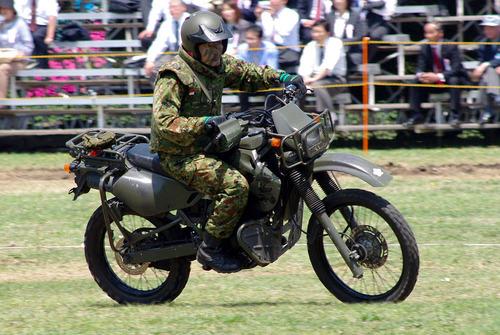 JGSDF_reconnaissance_bicycle_(Kawasaki_KLX250)_20120429-02