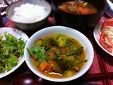 自作の野菜カレー 市販のスパイスセット使用