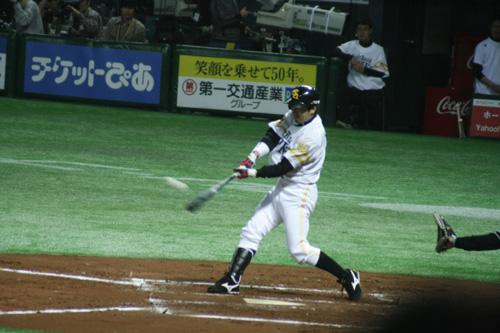 柴原さん二塁打