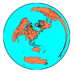 basemapのprojection種別(aeqd,gnom,ortho) : 私的メモ