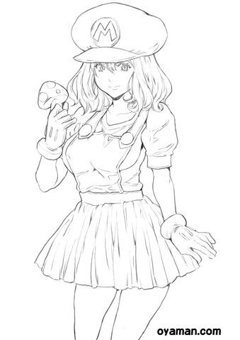 マリオな女の子