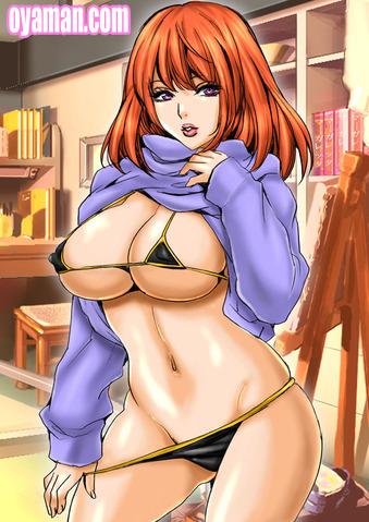 セーター脱ぐ女の子