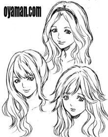$尾山泰永の漫画生活-巻き髪ギャル