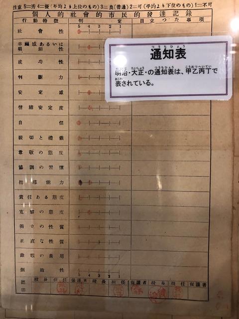 昔の成績表2