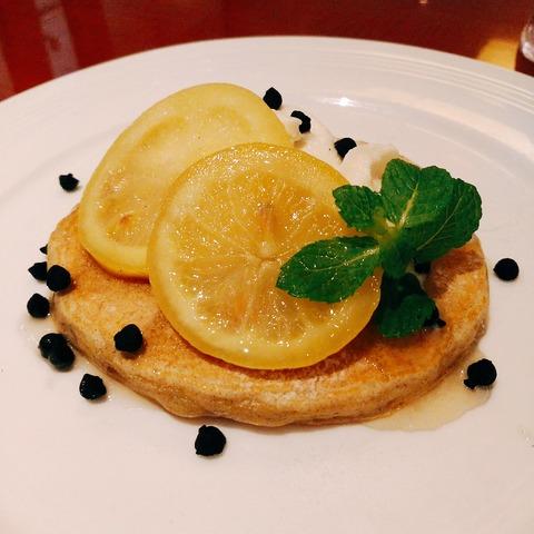 レモンチーズムースパンケーキ