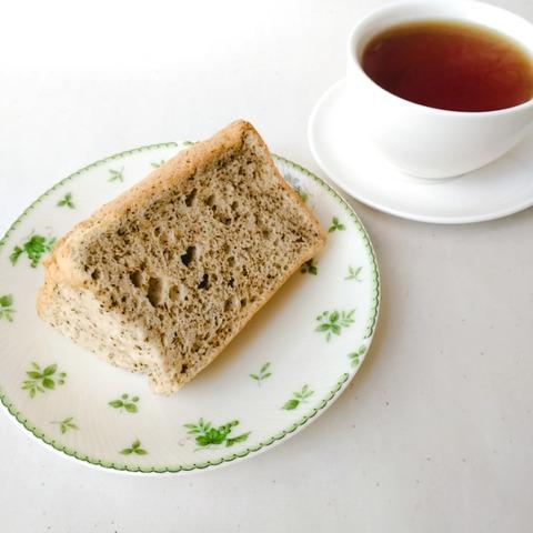 シフォンケーキ紅茶