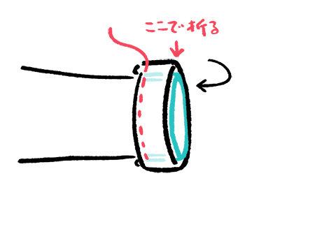 ブラウスお直し袖口の反対側も浮かないように縫い付けます