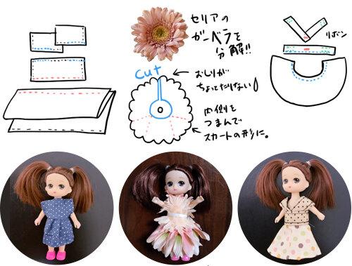 リカちゃんそっくりのリリーちゃんのお洋服の作り方