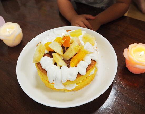 2歳の手作り誕生日ケーキ