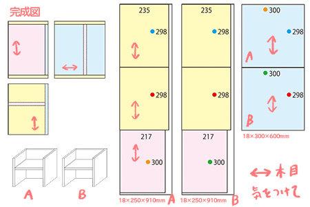 変化椅子の設計図