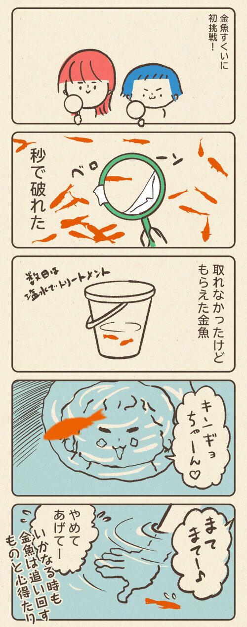 金魚はいついかなる時も追い回すものと心得たり