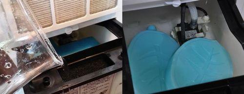 水タンクに保冷剤を