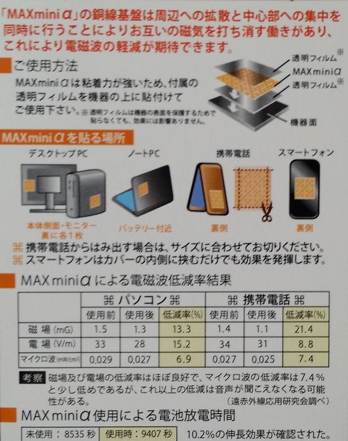 電磁波ブロッカー「MAXminiα」の使い方